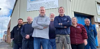 Team stood outside premises at MachFab